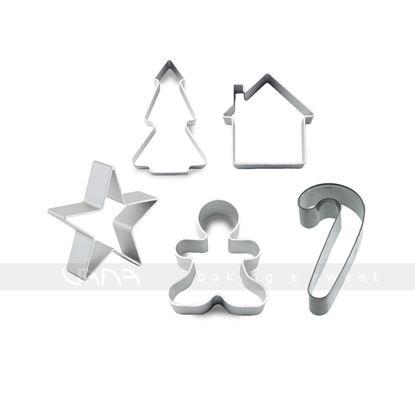 Hình ảnh củaSET GIÁNG SINH (cutter breadman, cutter ngôi nhà, cutter sao, cutter cây thông, cutter candycane)