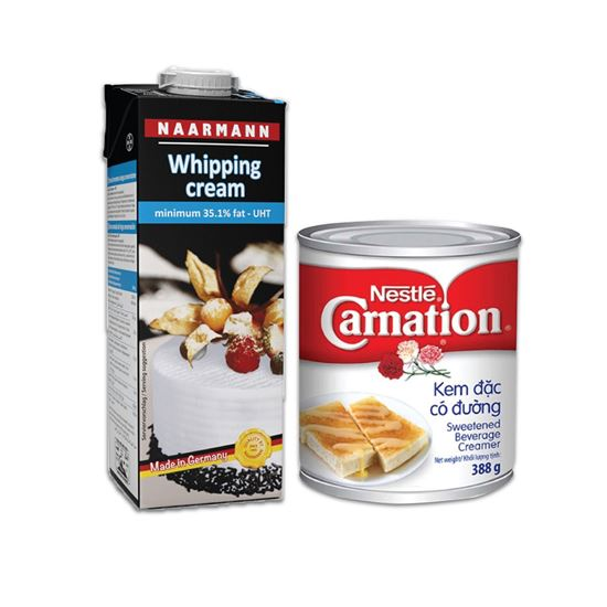 Picture of COMBO WHIPPING CREAM NAARMANN & SỮA ĐẶC CARNATION