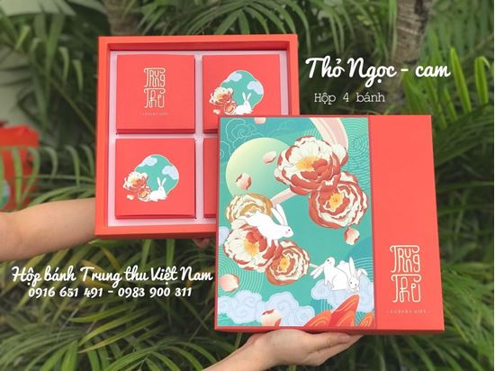 Picture of Hộp trung thu 4 bánh thỏ ngọc cam